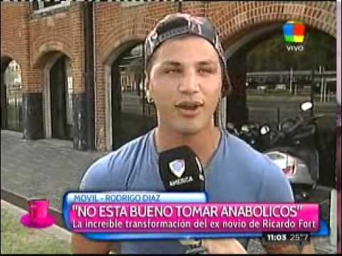Rodrigo Díaz confesó que toma anabólicos para mejorar su figura