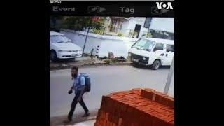 Camera an ninh ghi hình nghi phạm đánh bom ở Sri Lanka (VOA)