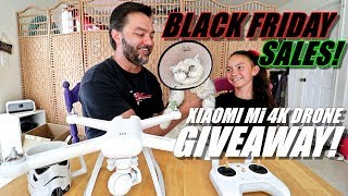 XIAOMI Mi 4K Drone GIVEAWAY! BLACK FRIDAY Deals & Our Cat Lost His Eye!😿