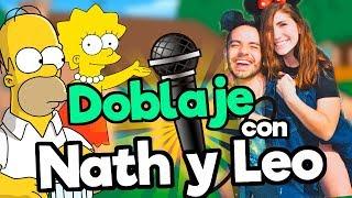 FANDUB (Doblaje Los Simpsons) con Nath Campos y LeonPato / Memo Aponte