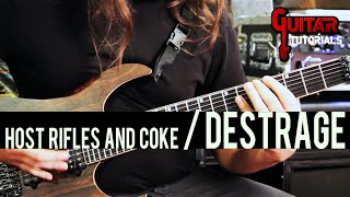 DESTRAGE - Hosts, Rifles And Coke (Guitar Tutorial with Ralph Salati)