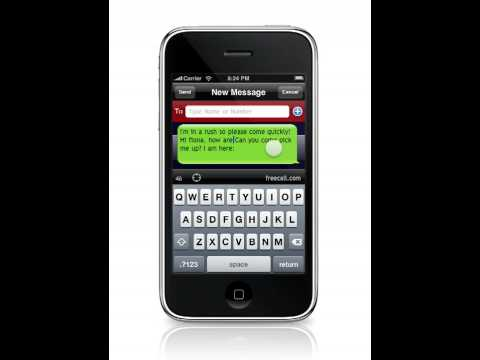 True LandScape Texting Free IPhone / IPod Touch