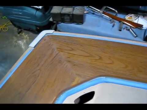 Building Varnish on Teak Covering Boards (Preview) Wooden Boat Restoration