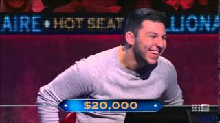 The luckiest quiz show contestant ever? Hot Seat Millionaire (Australia)