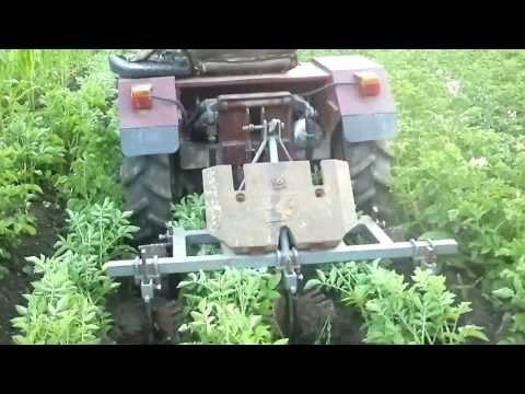 Самодельный трактор картошки