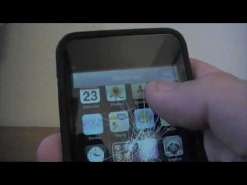 How To Fake Crack Your Ipod Touch/Iphone Screen