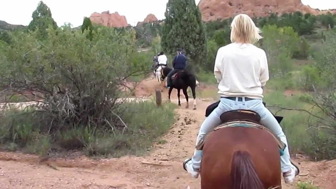 Horseback Riding Garden Of The Gods Youtube