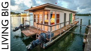 Life On The Water In A Tiny House Boat