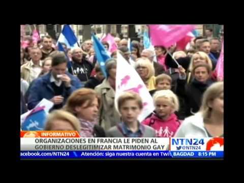Organizaciones en Francia piden al gobierno deslegitimizar al matrimonio homosexual