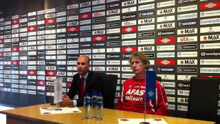 Aalesund - AZ Alkmaar (Europa Leauge Playoff 2011) Color Line Stadion Press Conference Before  Match