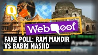 Don't Fall for That Viral 'Ram Mandir vs Babri Masjid' Voting Link | The Quint  from The Quint