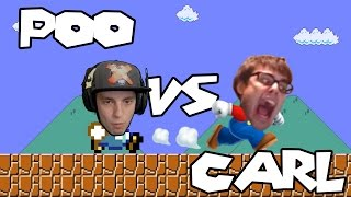 Mario Maker - A Spaghetti Dinner for Two: Kaizo Race Rematch w/ Poo (Hard Levels!)