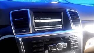 How to unlock TV / DVD / Navigation on 2013 ML350