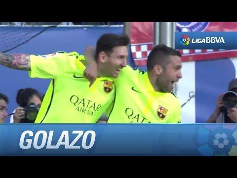 Golazo de Messi (0-1) que le da la Liga al FC Barcelona