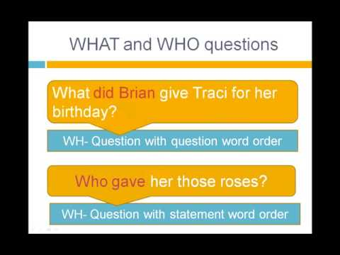 Lesson 14 - Reported Speech (Wh- Questions) - Grammar