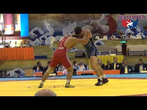 2012 Junior Worlds - GR 74kg - Geordan Speiller (USA) vs. Kazbek Kilov (BLR)