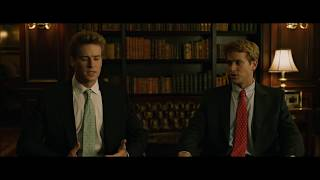 Larry Summers and the Winklevoss twins Scene from The Social Network
