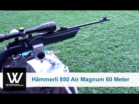 Hämmerli 850 Air Magnum 60 Meter Distanz. Schusstest. www.waffenfuzzi.de