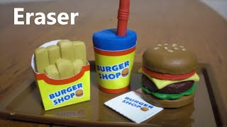 Kutsuwa Eraser Making Kit #3 - Hamburger