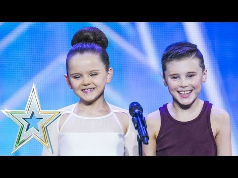 Izzie and Fionn dance to Sia's Set Free   Auditions Week 7   Ireland's Got Talent 2018