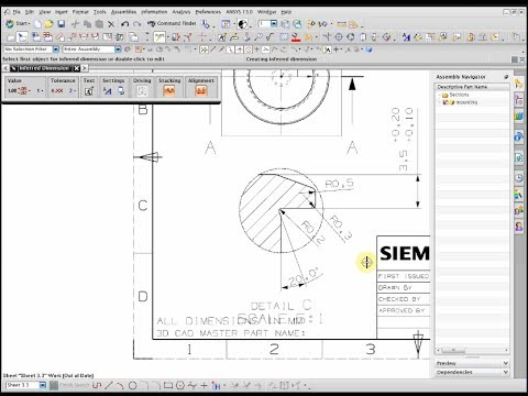 How to make drafting drawing 2d nx 7 5 youtube for 2d blueprint maker
