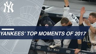A look back at the Yankees' top moments of 2017