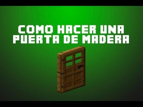 Minecraft como hacer una puerta de madera youtube for Como hacer una puerta de madera para jardin