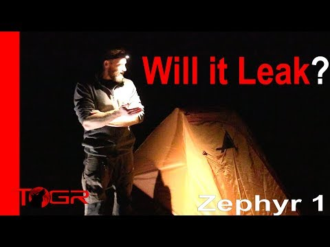 Will It Leak? - ALPS Mountaineering Zephyr 1 Person Tent - Test Night