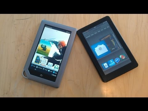 Battle Vid: Kindle Fire vs. Nook Tablet