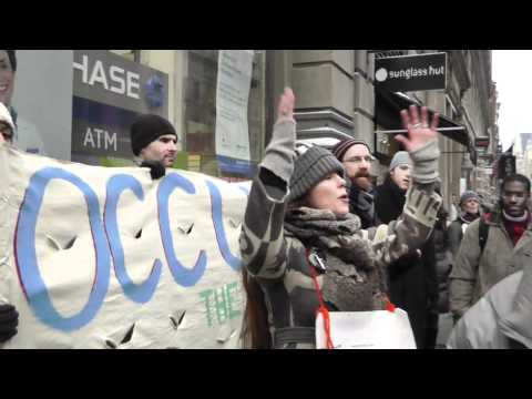 Occupy Wall Street - Occupy Corporations March Jan 21