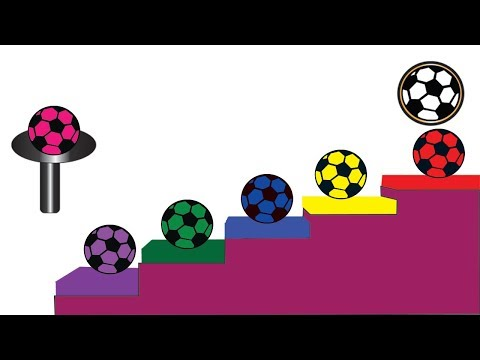 Learn Colors With Soccer Balls For Children || Soccer Balls || Nursery Rhymes Video For Kids thumbnail