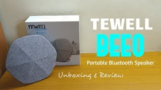 TEWELL BEEO Portable Bluetooth Bass Speaker - Review & Unboxing [HD]