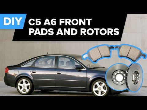 Ремонт и замена тормозных дисков и колодок на Ауди А6 (Audi A6). Видео