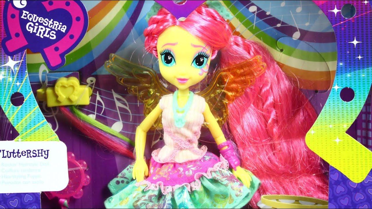 Fluttershy Rockin` Hairstyle Doll / Флаттершай Стильные прически - EG MLP - B1039 - YouTube