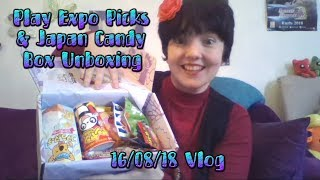 Play Expo Picks & Japan Candy Box Unboxing ● 16/08/18 Vlog