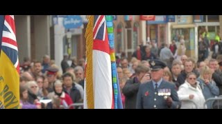remembrance day parade,2014, huntingdon town