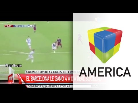 Atento, River: Barcelona volvió a golear de la mano de su tridente