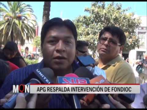 03/03/2015: 20: 40 APG RESPALDA INTERVENCION DE FONDIOC