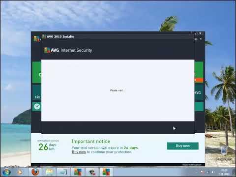 Kako instalirati FULL AVG 2013 - Licenca važi do 2018 godine.