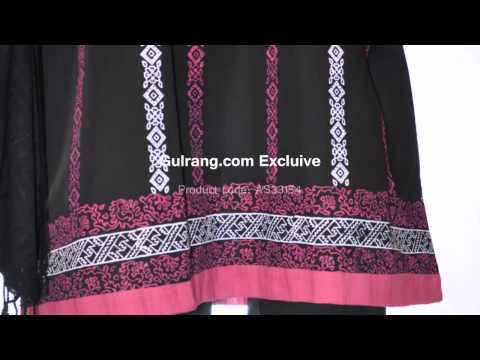 Gulrang Pakistani Dress A- Line Shirt With Trouser video