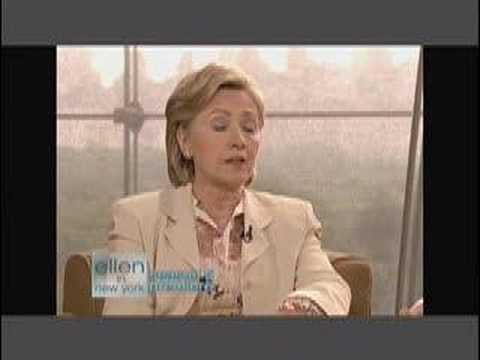 Clinton on Ellen discussing gay marriage