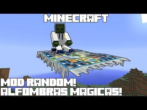 Minecraft MOD RANDOM! SUPER ALFOMBRAS MÁGICAS! MagicCarpet Mod 1.6.4 Review Español