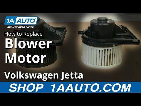 How To Install Replace Heater AC Blower Fan Motor 1999-05 VW Volkswagen Jetta