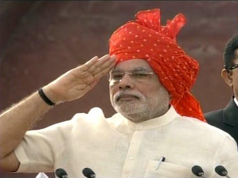 Prime Minister Narendra Modi Flag Hoisting at Red Fort, Delhi
