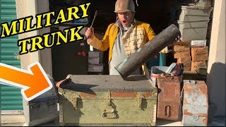 MILITARY WAR TRUNK FOUND $5500 STORAGE UNIT I bought an abandoned storage unit AND FOUND MILITARY