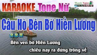 Câu Hò Bên Bờ Hiền Lương Karaoke   Tone Nữ - Nhạc Sống Thanh Ngân