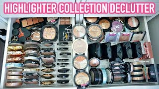 BEAUTY ROOM DECLUTTER | MY HIGHLIGHTER COLLECTION