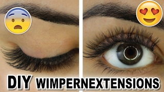 HOW TO DIY Wimpernextensions Desinas Eyeash Extensions Zuhause selber machen Tutorial