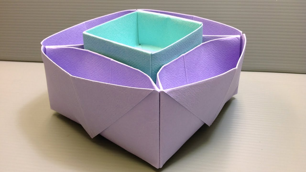 Origami Desk Organizer Or Snack Dish For School Or Parties
