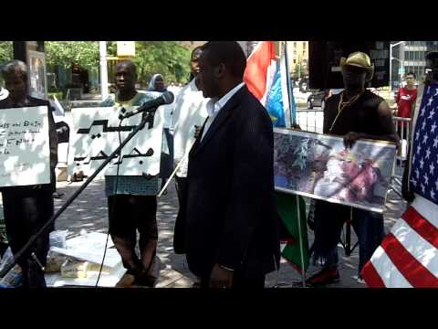 Sudan Rally at the UN:  Abdalla Niam, Darfur People's Association of New York